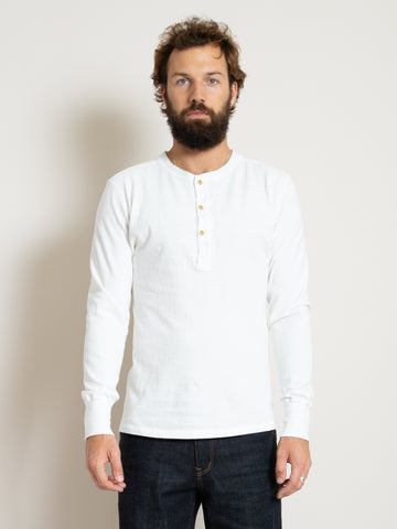Homespun Coal Miner Shirt- Off White