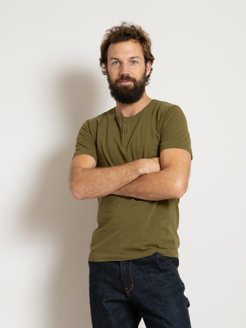 Homespun Great Plains Tee - Olive