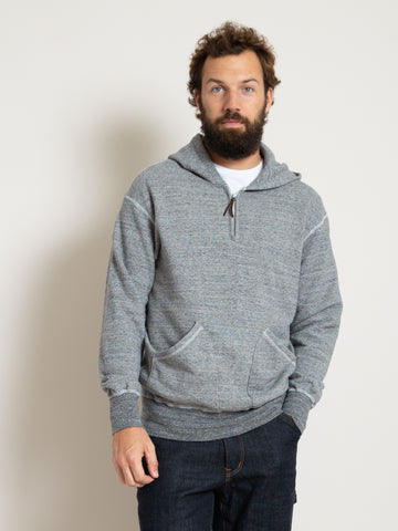 Homespun 1/4 Zip Parka- Dark Grey