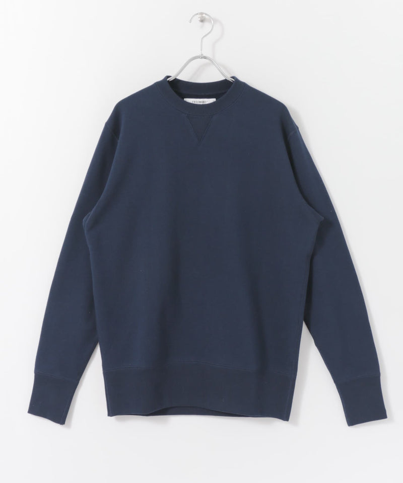 FREEMANS x LOOPWHEELER - NAVY CREWNECK
