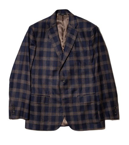 Freemans Sport Coat - Navy Plaid