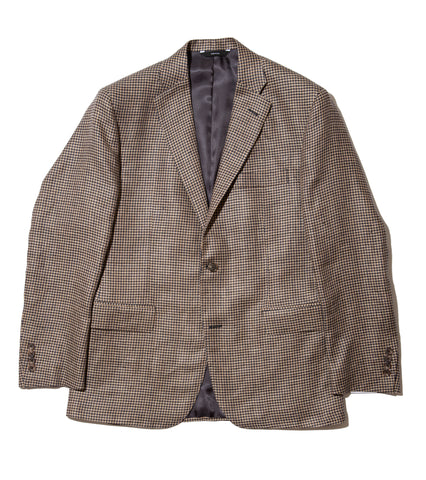 Freemans Sport Coat - Tan Houndstooth