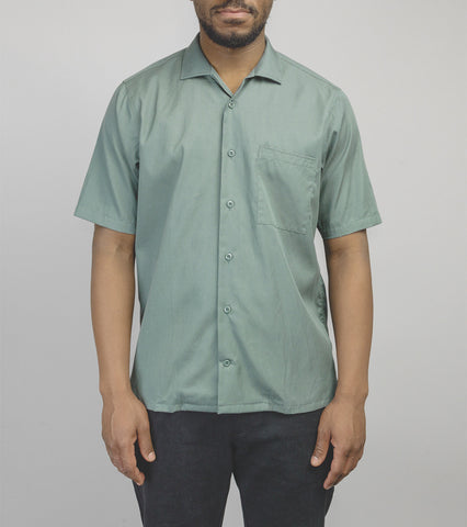 Short Sleeve Camp Collar Shirt - Marine