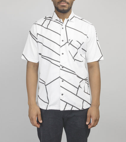 Short Sleeve Camp Collar Shirt - Delorean