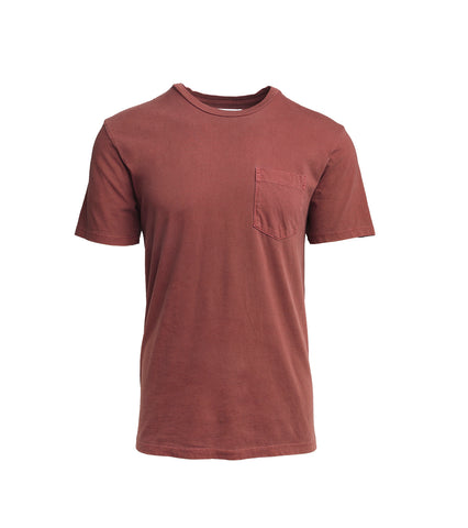 Pocket T-Shirt - Burgundy