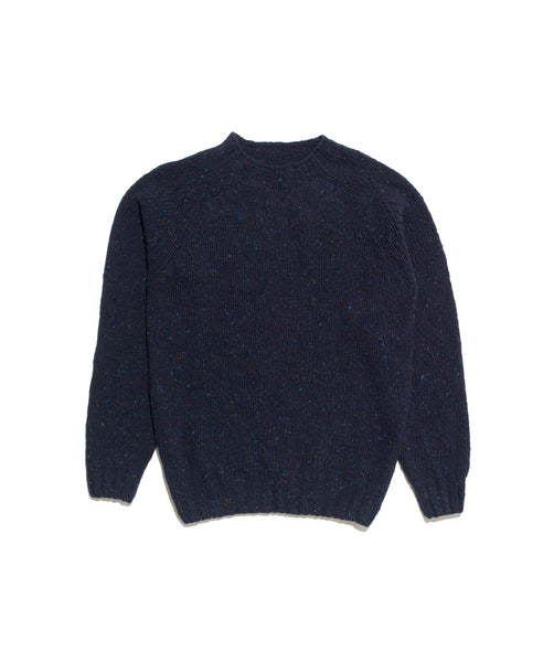 Crewneck Donegal Sweater- Sheridan Navy