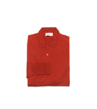 John Smedley Cotswold Long Sleeve Polo- Thermal Red