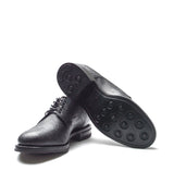 Viberg Derby Shoe- Black Scotch Grain