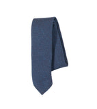 Unstructured Necktie - Navy Slub