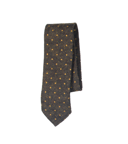 Unstructured Necktie - Green Dot