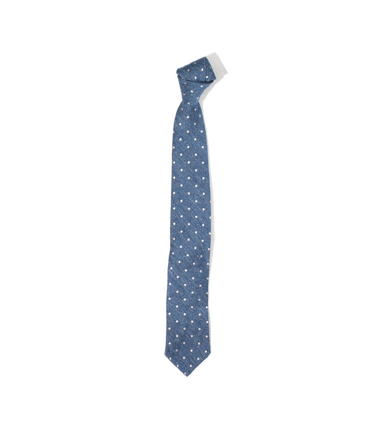 Unstructured Tie- Blue Dot