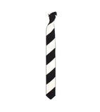 Knit Necktie - Black Barber Stripe