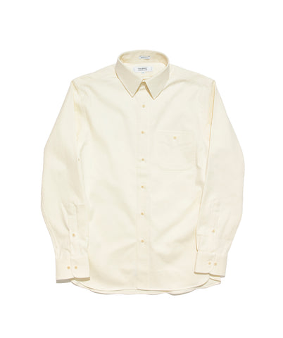 Point Collar Shirt- Natural Twill