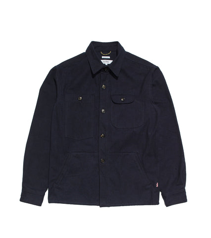 Camp Shirt- Navy Moleskin