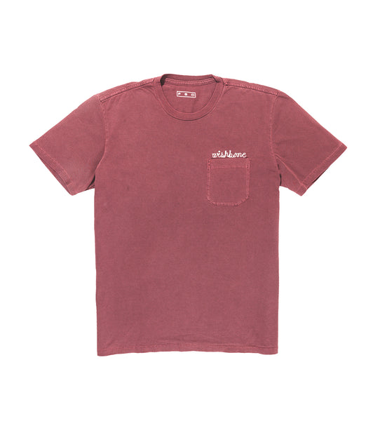 WISHBONE T-Shirt - BURGUNDY