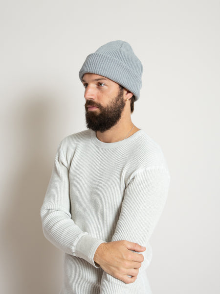 Homespun Thermal Knit Cap- Grey Melange