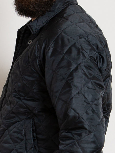Drizzler Jacket - Black Quilted