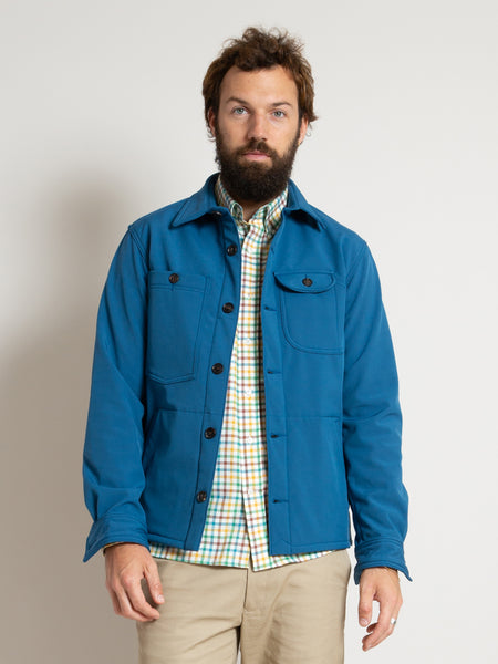 Water Repellent Camp Shirt- Blue