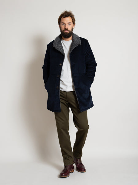 Chicago Coat- Navy Corduroy