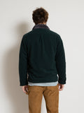 Reversible Fleece Jacket- Dark Green Boiled Wool