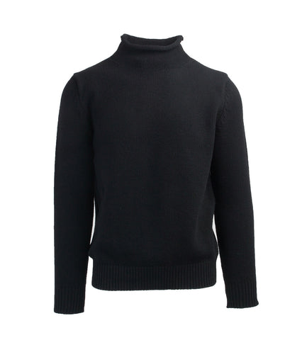 Wool Rollneck Sweater - Black