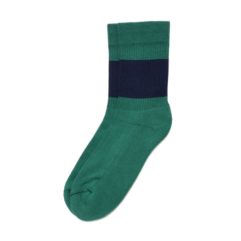 Color Pop Sock- Green/Navy