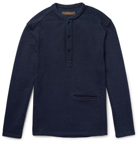 LOOPBACK FLEECE POPOVER - Dark Indigo