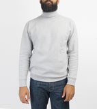 HEAVY TURTLENECK POCKET SWEATSHIRT - GREY