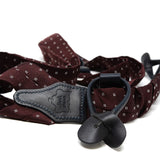 Sera Fine Silk- Burgundy with Squares Braces