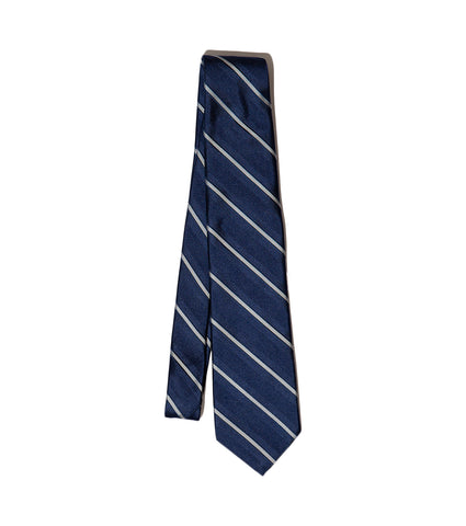 Freemans Necktie- Blue Stripe