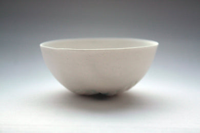 Small porcelain bowl. Decorative stoneware English fine bone china small bowl with green hue.