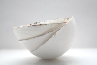Big bowl from English fine bone china and real gold