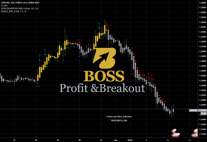 Monthly Access BOSS Breakouts, Profit Points, and ReEntry's