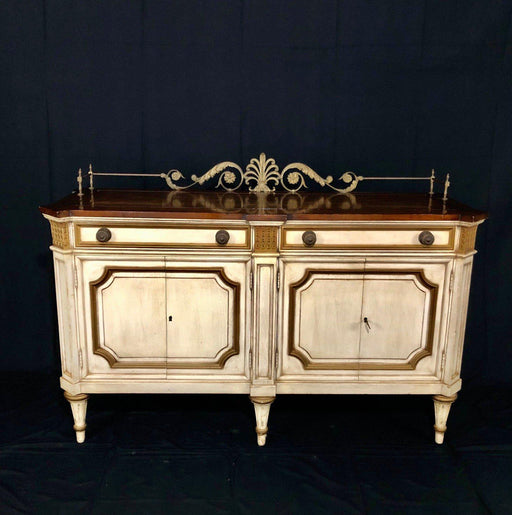 Vintage Mid-Century Louis XVI Style Sideboard Buffet Cabinet by Karges Furniture
