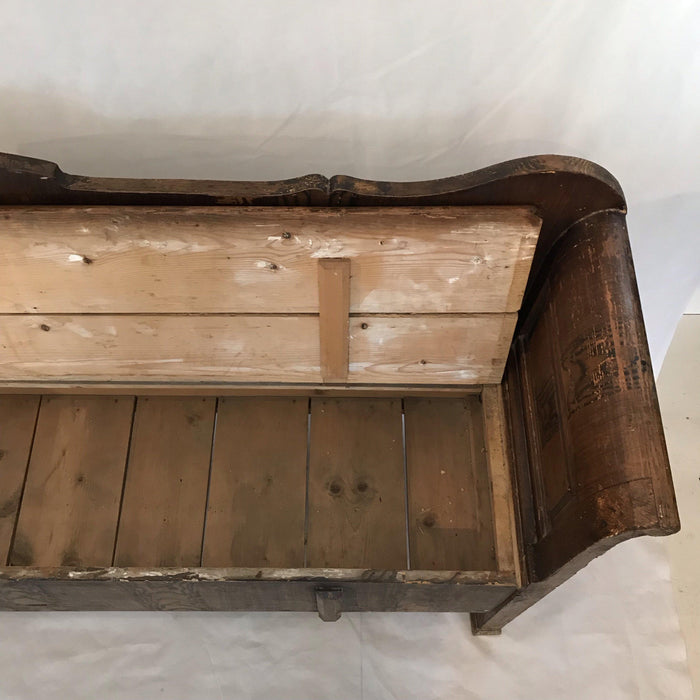 Antique Faux Painted Hungarian/Romanian Pine Bench, circa 1875