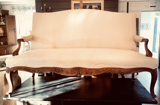 Antique french carved walnut sofa loveseat for sale good price