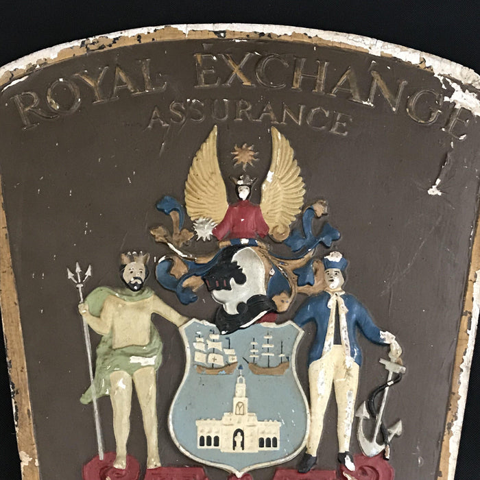 British Royal Exchange Assurance (Insurance) Sign with Coat of Arms/Crest to buy