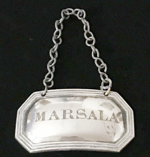 British Silver 1790 UK Sheffield Marsala Wine Label for sale