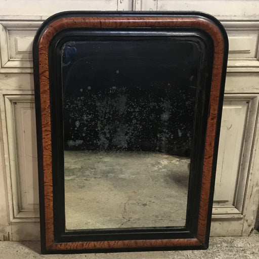French Louis Philippe Faux Painted Mirror with Original Plate