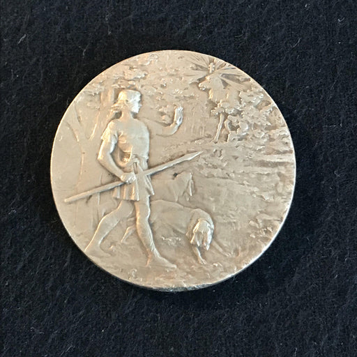 french hound terrier dog medal exposition canine poitiers for sale antique