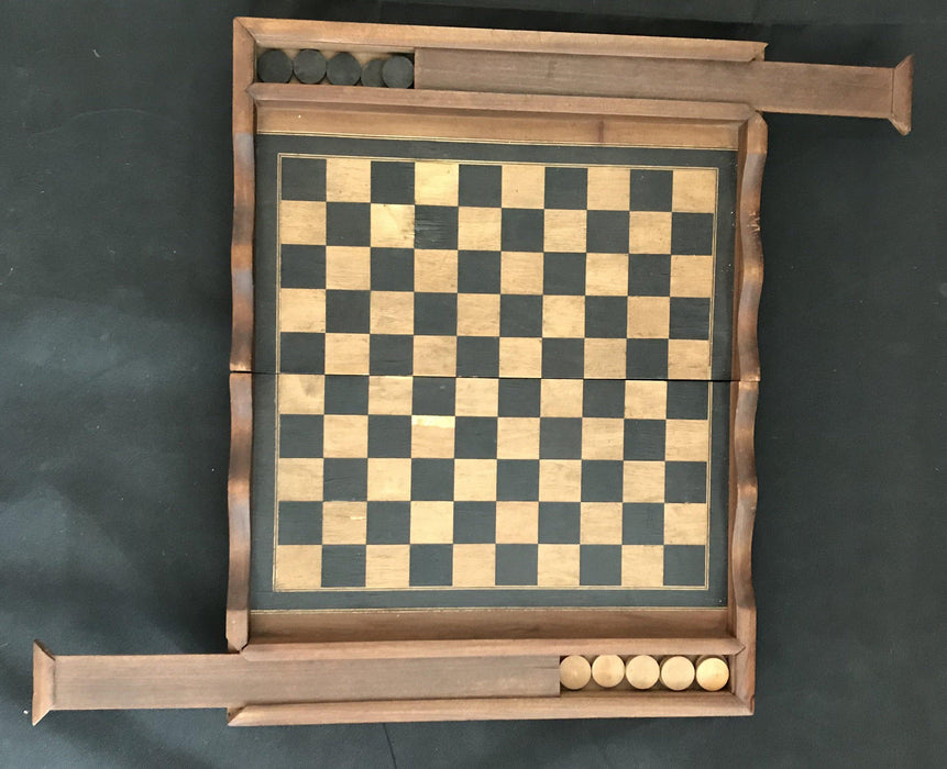 French Inlaid Chess and Checkerboard/Chequerboard, Backgammon for sale