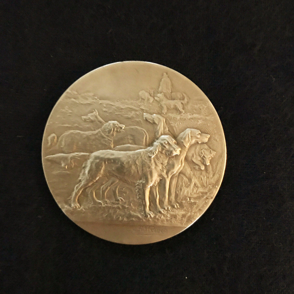 French dog medal exposition canine de saint-gaudens for sale