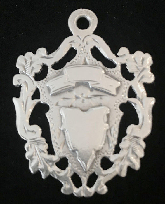 For sale: British Silver Crest/Coat of Arms Pendant Medal Hallmarked C.E.A.