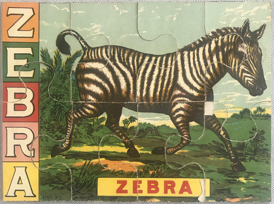 Zebra puzzle for sale antique