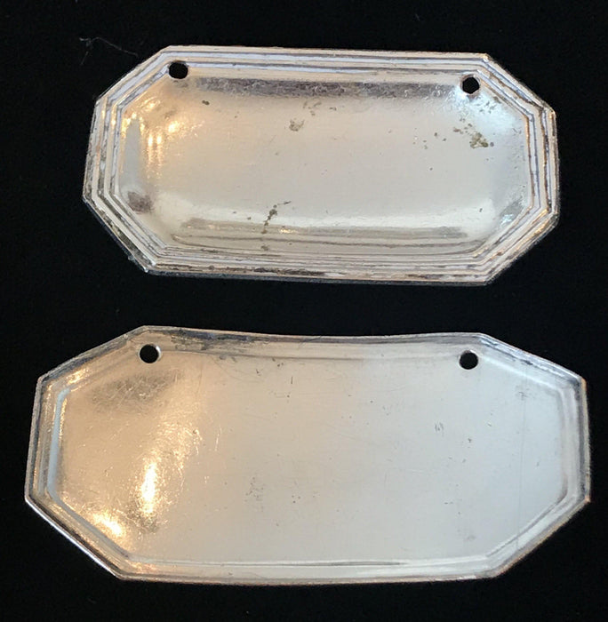 For sale: Pair of British Silver c1800 Old Sheffield Labels (2)