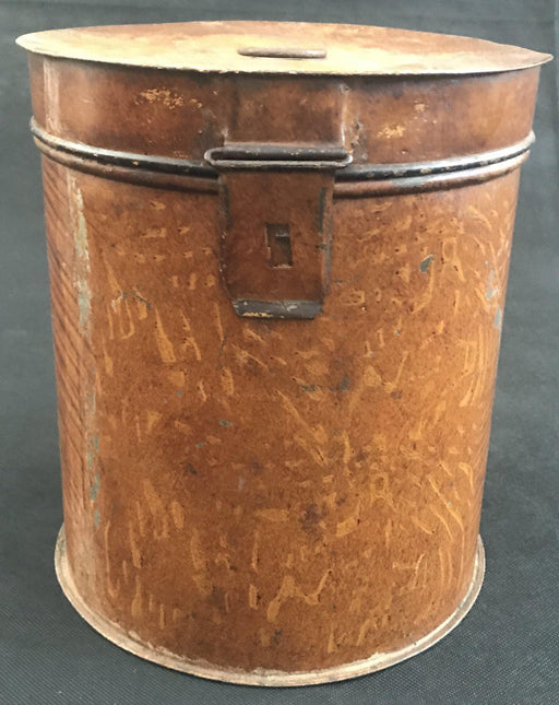Faux Painted British Metal Canister  for sale