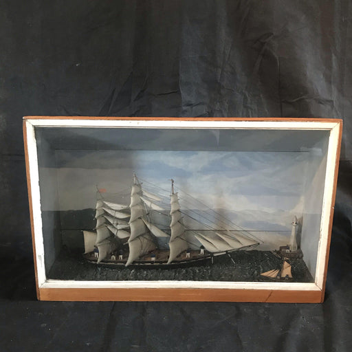 Large Early British Ship Diorama