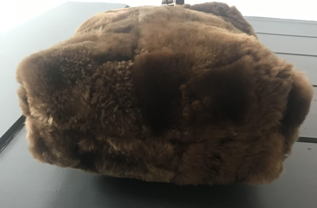 Fur purse with silver lining buy it!