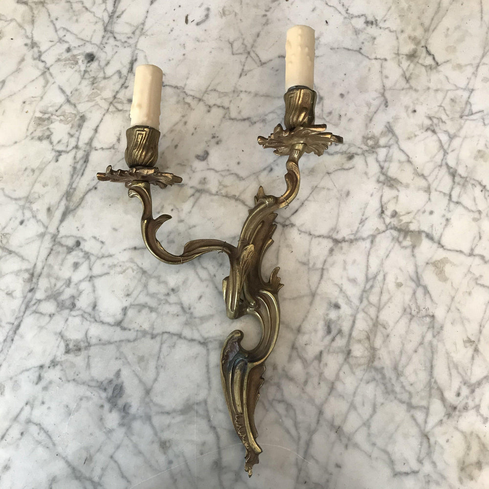 French Gold Gilt Bronze Sconce