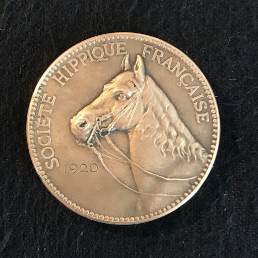 french medal societe hippique francaise 1920 for sale